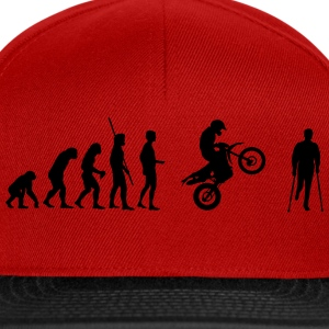 Evolución Enduro accidente  Camisetas - Gorra Snapback