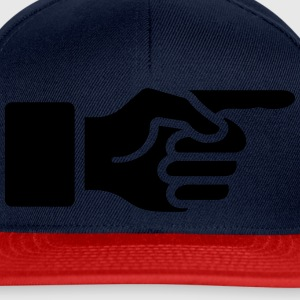 Index finger, forefinger, hand, way, ,  T-Shirts - Snapback Cap
