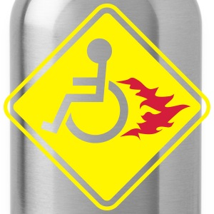 Wheelchair on Fire Bags & backpacks - Water Bottle