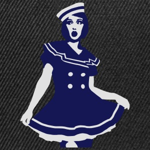 Pop Art - Maritiem Sailor sexy bruid T-shirts - Snapback cap