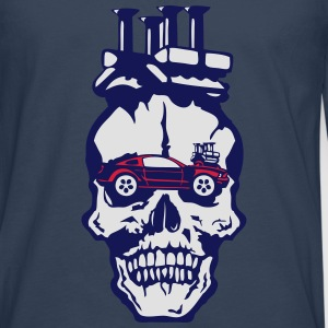 tete mort voiture skull car vintage mote Tee shirts - T-shirt manches longues Premium Homme