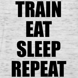 Train Eat Sleep Repeat Bluzy - Tank top damski Bella