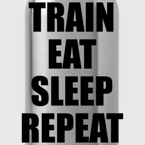 Train Eat Sleep Repeat Sudaderas - Cantimplora