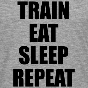 Train Eat Sleep Repeat Sudaderas - Camiseta de manga larga premium hombre