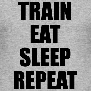 Train Eat Sleep Repeat Gensere - Slim Fit T-skjorte for menn