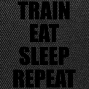 Train Eat Sleep Repeat Tee shirts - Casquette snapback