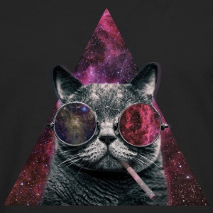 Hipster Cat Smoking - T-shirt manches longues Premium Homme