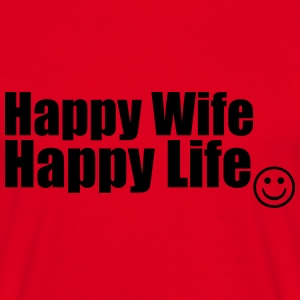 Happy Wife, Happy Life Felpe - Maglietta da uomo