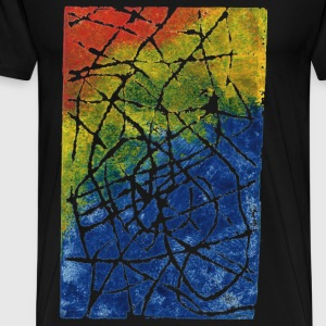 Chromatic Labyrinth. Really good stamped colors. - Men's Premium T-Shirt