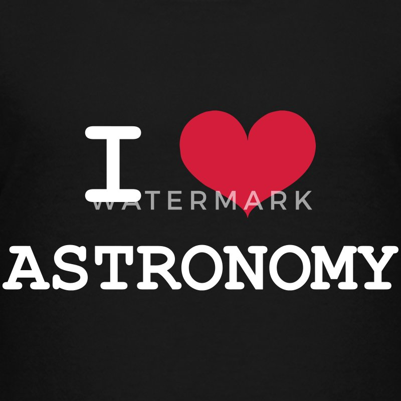 I Love Astronomy Shirts - Teenage Premium T-Shirt