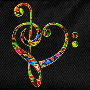 Bass clef heart, treble clef, music lover, notes Hoodies & Sweatshirts - Kids' Backpack