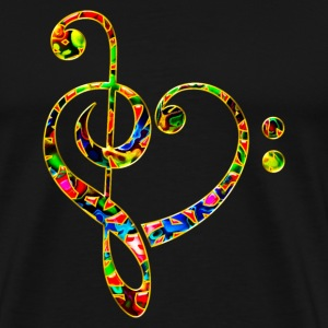Bass clef heart, treble clef, music lover, notes Hoodies & Sweatshirts - Men's Premium T-Shirt