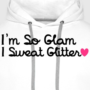 I'm So Glam, I Sweat Glitter T-shirts - Premiumluvtröja herr