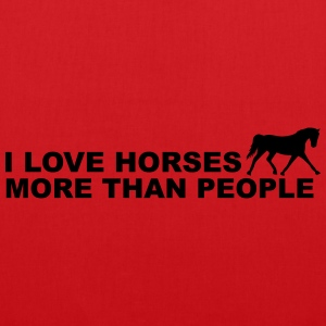 I Love Horses More Than People Sweaters - Tas van stof