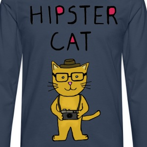 Hipster Cat - Men's Premium Longsleeve Shirt