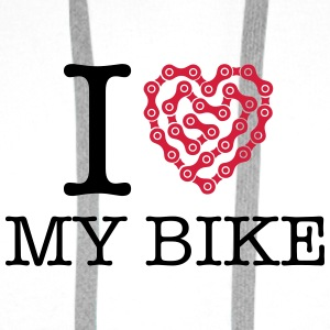 I Love My Bike Badges - Sweat-shirt à capuche Premium pour hommes