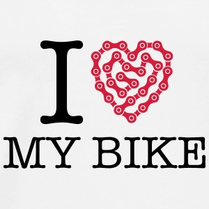 I Love My Bike Buttons - Men's Premium T-Shirt