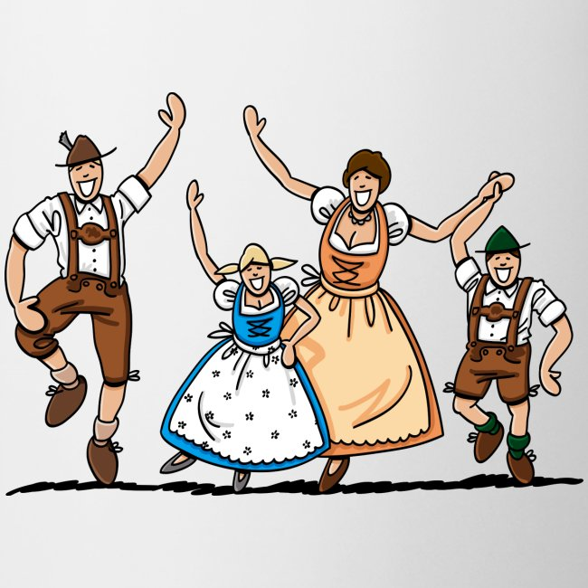 Bierkrug Oktoberfest Fröhliche Familie