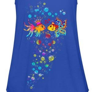 Bubble Love, Fish, water, heart, holiday, sea,  Camisetas - Camiseta de tirantes mujer, de Bella