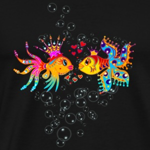 LOVE FISH, Bubbles, Marriage, Wedding, Hearts, Fun Sudaderas - Camiseta premium hombre