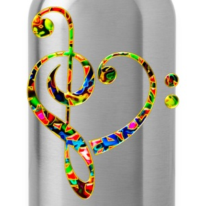 Bass clef heart, treble clef, music lover, notes Magliette - Borraccia
