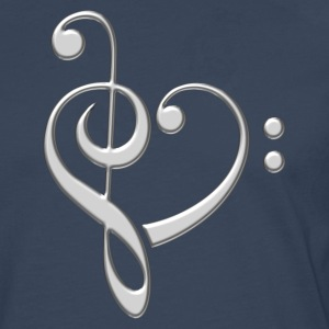 Bass clef heart, treble clef, music lover, notes T - Men's Premium Longsleeve Shirt