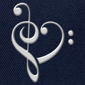 Bass clef heart, treble clef, music lover, notes T-shirts - Snapbackkeps