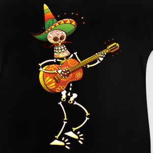 Mexican Skeleton Playing Guitar Shirts - Baby T-Shirt
