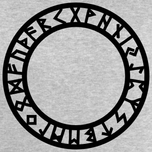 Rune Circle, Magical, Symbol, Futhark, Old Norse,  T-Shirts - Men's Sweatshirt by Stanley & Stella