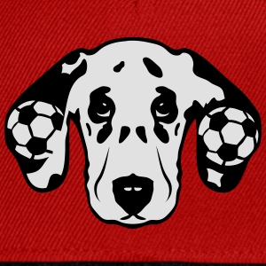foot dalmatien chien football soccer dog Tee shirts - Casquette snapback