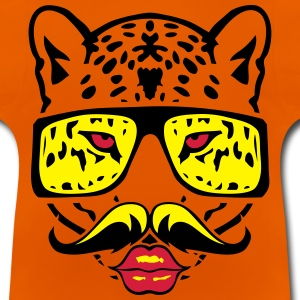 leopards lunette moustache bouche animal Tee shirts - T-shirt Bébé