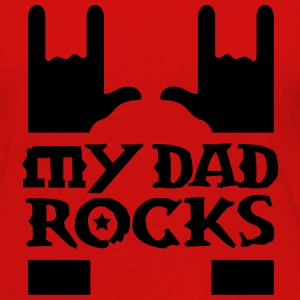 my dad rocks  Shirts - Women's Premium Longsleeve Shirt