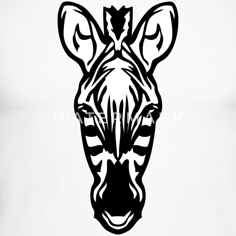 zebre zebra animal sauvage dessin Tee shirts manches longues - T-shirt baseball manches longues Homme