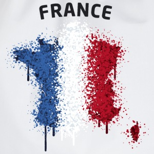 France Text Landkarte Flagge Graffiti T-Shirts - Turnbeutel