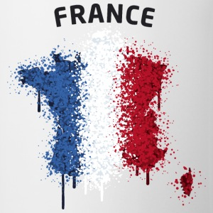 France Text Landkarte Flagge Graffiti T-Shirts - Tasse