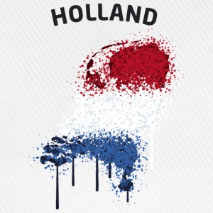 Holland Text Landkarte Flagge Graffiti T-Shirts - Baseballkappe