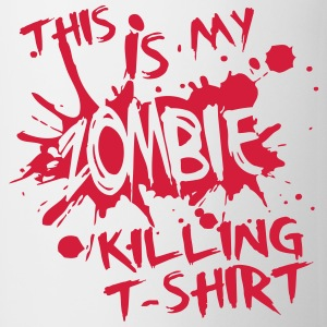 This is my zombie kiling t-shirt Magliette - Tazza