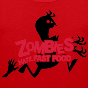 Zombies hate fast food T-Shirts - Men's Premium Tank Top