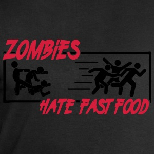 Zombies hate fast food Tee shirts - Sweat-shirt Homme Stanley & Stella