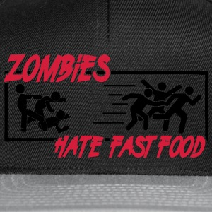Zombies hate fast food Magliette - Snapback Cap