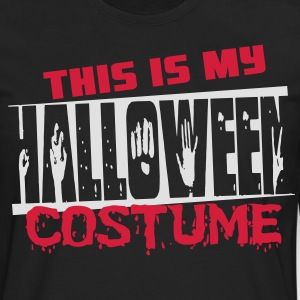 This is my halloween costume T-shirts - Herre premium T-shirt med lange ærmer