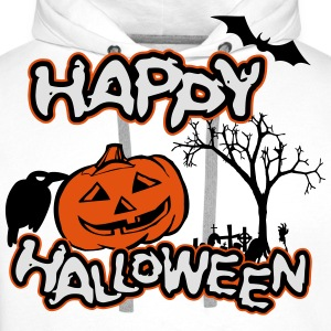 Happy Halloween Tee shirts - Sweat-shirt à capuche Premium pour hommes