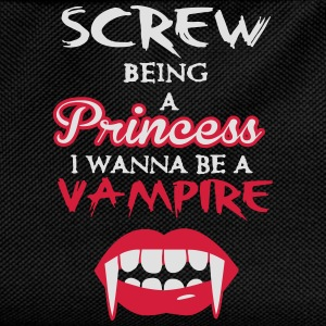 Screw being a princess, I wanna be a vampire T-shirts - Ryggsäck för barn