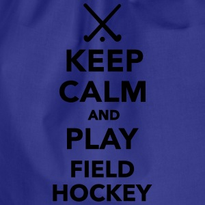 Keep calm and play Field hockey T-Shirts - Turnbeutel