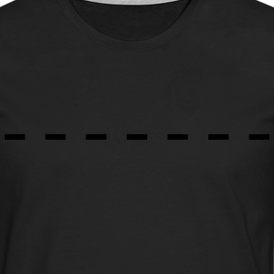 Dashed Line T-Shirts - Men's Premium Longsleeve Shirt