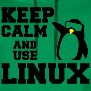 keep calm use linux T-Shirts - Men's Premium Hoodie