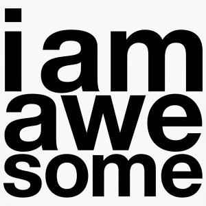 I AM Awesome T-shirts - Långärmad premium-T-shirt herr
