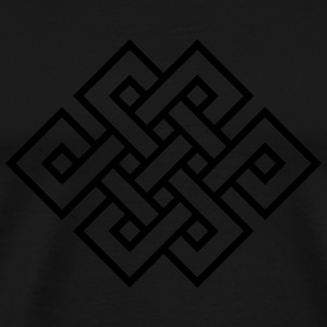 Tibetan endless knot, eternal, infinity, celtic Hoodies & Sweatshirts - Men's Premium T-Shirt