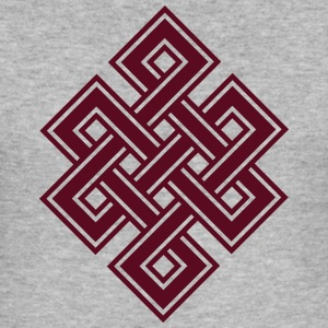 Tibetan endless knot, eternal, buddhism, celtic Hoodies & Sweatshirts - Men's Slim Fit T-Shirt