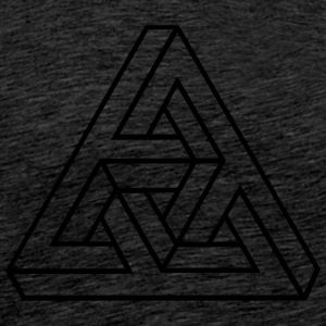 Impossible Triangle, optical illusion, Escher, Sweaters - Mannen Premium T-shirt